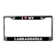 I Heart My Labradoodle License Plate Frame