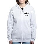 Killer Whale Women's Zip Hoodie