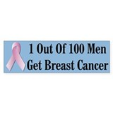 Male Breast Cancer Awareness Bumper Bumper Sticker