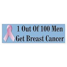 Male Breast Cancer Awareness Bumper Bumper Sticker