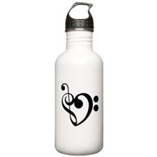 Musical Heart Water Bottle