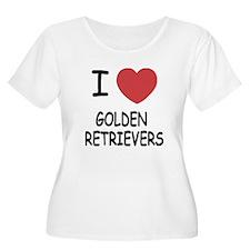 I heart golden retrievers T-Shirt