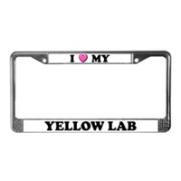 Yellow Lab License Plate Frames