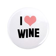 "I heart Wine 3.5"" Button"