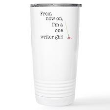 One writer girl Stainless Steel Travel Mug