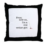One writer girl Throw Pillow