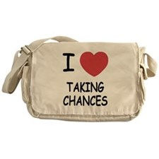 I heart taking chances Messenger Bag