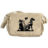 Cat & Dog Lovers Messenger Bag