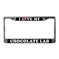 Chocolate Lab License Plate Frames