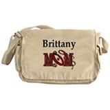 Brittany Dog Mom Messenger Bag