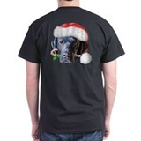 Black Lab Christmas T-Shirt