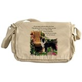 Border Collie Art Messenger Bag