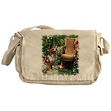 Brittany Spaniel Art Messenger Bag