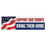 Cute Bring our troops home Bumper Sticker