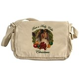Collie Christmas Messenger Bag