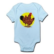 Production Red Sunburst Infant Bodysuit