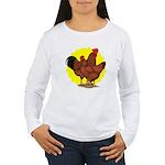 Production Red Sunburst Women's Long Sleeve T-Shir
