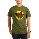 Production Red Sunburst Organic Men's T-Shirt (dar