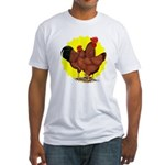 Production Red Sunburst Fitted T-Shirt