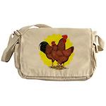 Production Red Sunburst Messenger Bag