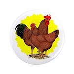 """Production Red Sunburst 3.5"""" Button (100 pack"""