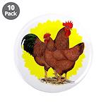 """Production Red Sunburst 3.5"""" Button (10 pack)"""