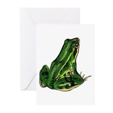 Green Frog Greeting Cards (Pk of 10)