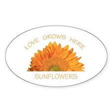 Love Grows Here Sunflowers Decal