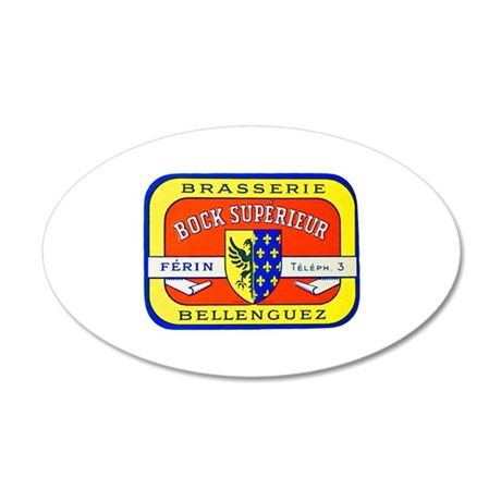 France Beer Label 7 22x14 Oval Wall Peel