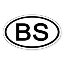 BS - Initial Oval Oval Decal