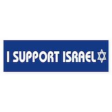 I support Israel Bumper Bumper Sticker