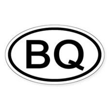 BQ - Initial Oval Oval Decal