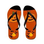 Pumpkin Halloween Flip Flops