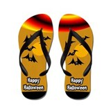 Bats Halloween Flip Flops