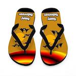 Bats Halloween Flip Flops