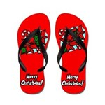 Merry Christmas Flip Flops