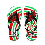 Christmas Swirl Flip Flops