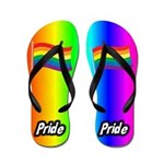 Rainbow Pride Flip Flops