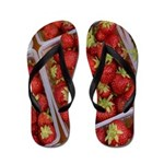 Strawberry Basket Flip Flops