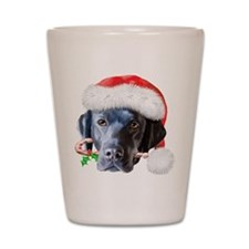 Black Lab Christmas Shot Glass
