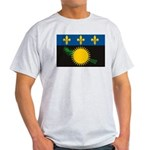 Guadeloupe Flag Ash Grey T-Shirt