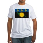 Guadeloupe Flag Fitted T-Shirt