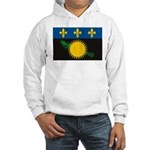 Guadeloupe Flag Hooded Sweatshirt