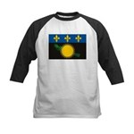 Guadeloupe Flag Kids Baseball Jersey
