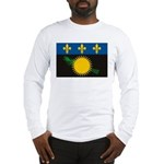 Guadeloupe Flag Long Sleeve T-Shirt
