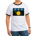 Guadeloupe Flag Ringer T