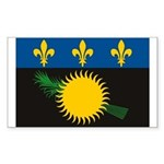 Guadeloupe Flag Rectangle Sticker