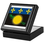 Guadeloupe Flag Keepsake Box