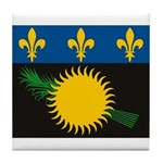 Guadeloupe Flag Tile Coaster