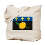 Guadeloupe Flag Tote Bag